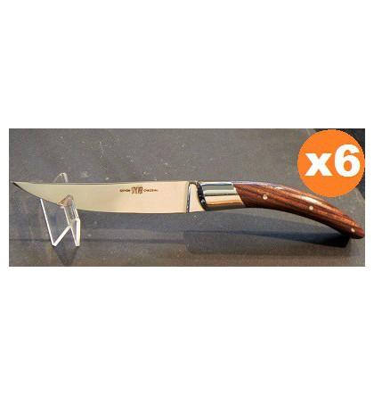 Coffret 6 couteaux styl'ver bois de violette