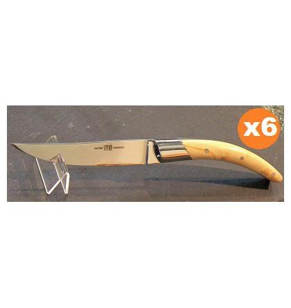Coffret 6 couteaux styl'ver bois de buis