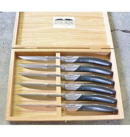 Coffret de 6 couteaux de table pirou ebene