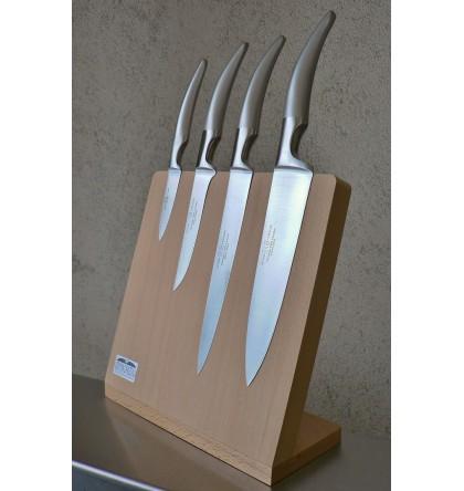 """Support magnétique pour 4 couteaux """"cuisine styl'ver"""" manche tout inox"""