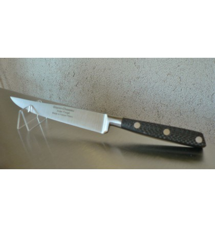Couteau steak forgé 13 cm manche en fibre de carbone