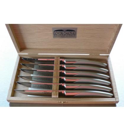Coffret 6 couteaux de table thiers tout inox sablé