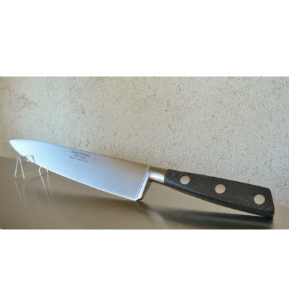 Couteau éminceur forgé 20 cm manche en fibre de carbone