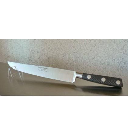 Couteau yatagan forgé 20 cm manche en fibre de carbone