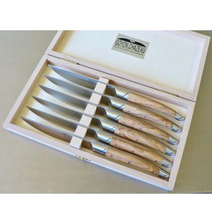 Coffret 6 couteaux le Thiers avantage forgé, manche en olivier