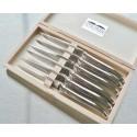 Coffret 6 couteaux de table Laguiole, avantage, montage orfèvre, tout inox