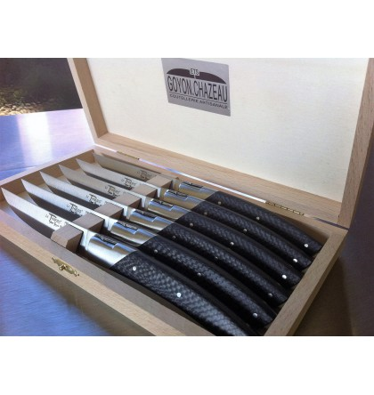 Coffret 6 couteaux le Thiers pirou avantage manche fibre de carbone