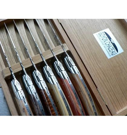 Coffret de 6 couteaux assortiment de bois