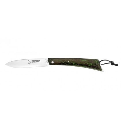Couteau de poche 750 - Fat carbone vert - inspiration KAWASAKI