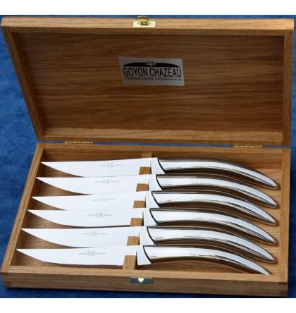 Coffret 6 couteaux styl'ver inox brillant