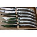 Coffret 6 couteaux de table styl'ver inox sablé