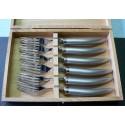 Coffret 6 fourchettes table styl'ver inox sablé