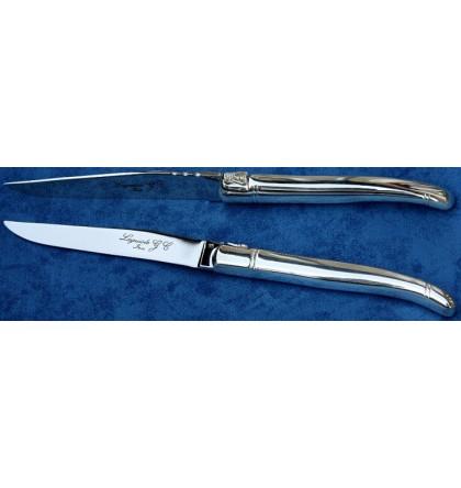 Couteau de table laguiole tout inox brillant