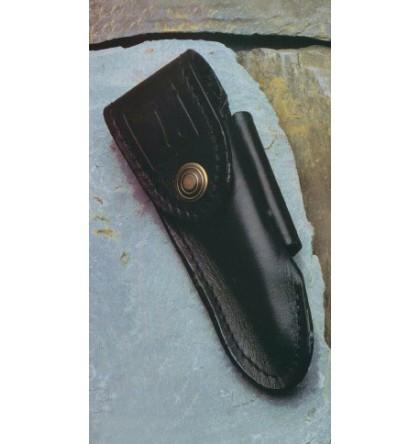 "Etui cuir noir pour ""le Thiers"" ceinture vertical ou horizontal"
