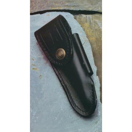 Etui cuir noir pour le thiers ceinture verticale ou horizontale