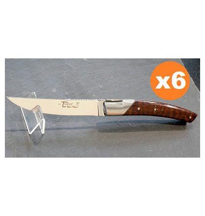 Coffret de 6 couteaux pirou bois d'amourette